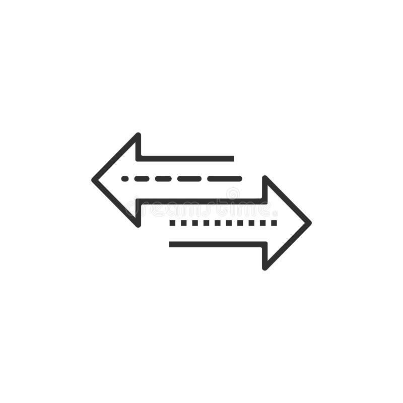 Strza?a lewica i prawica linii ikona pojedynczy bia?e t?o r?wnie? zwr?ci? corel ilustracji wektora royalty ilustracja