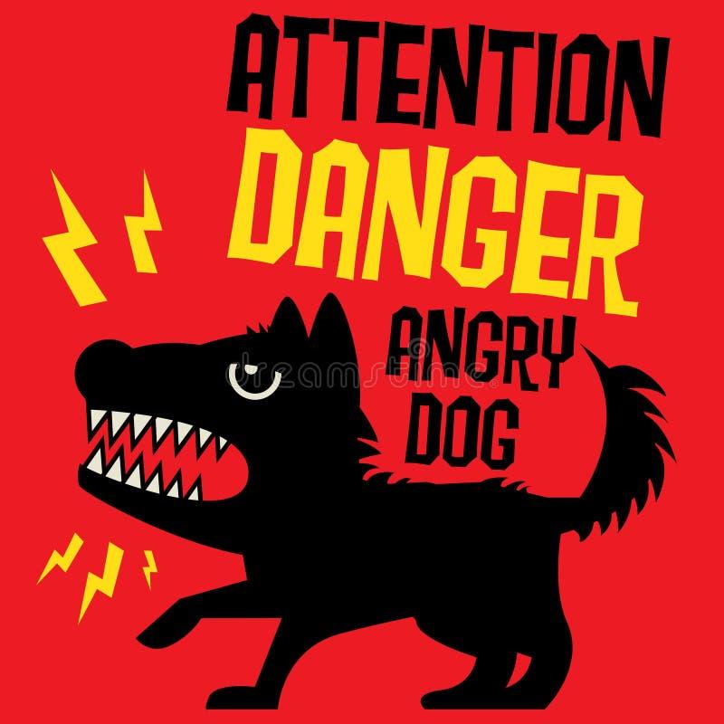 strzeż się psa ilustracja wektor
