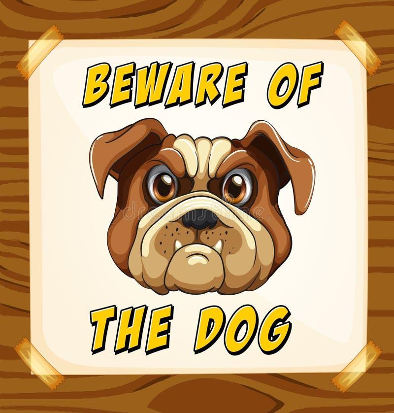 strzeż się psa royalty ilustracja