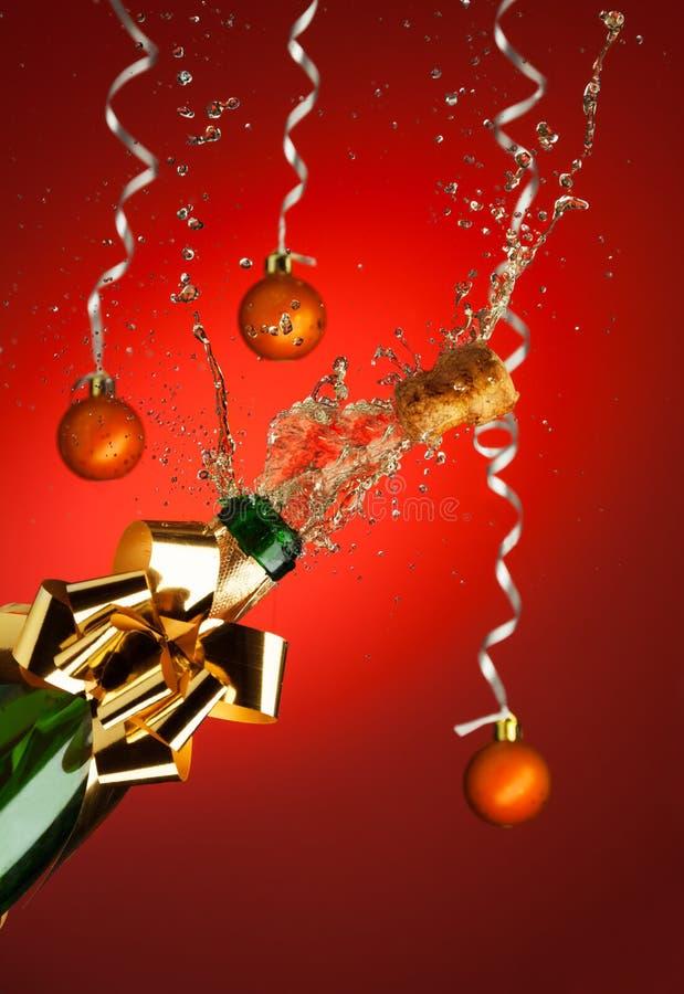 Strzelać korek od Champaign butelki zdjęcia stock