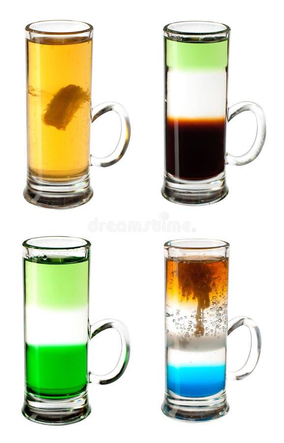 Strzelająca cocktaile kolekcja fotografia stock