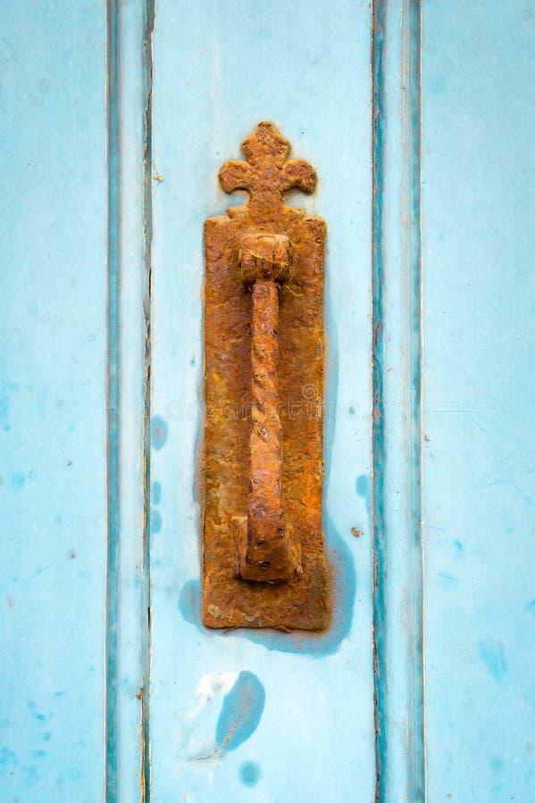 strzelająca strzelać zamknięta drzwiowa rękojeść zdjęcie stock