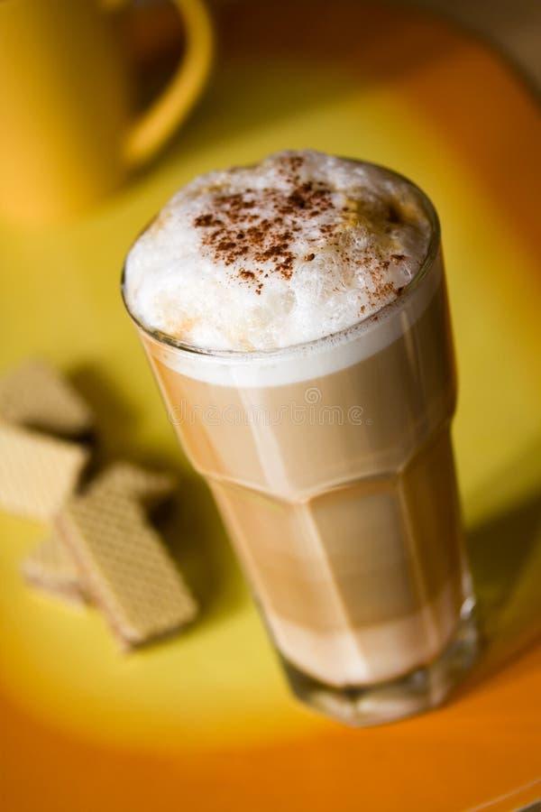 strzelający strzelać latte zamknięty macchiato fotografia royalty free