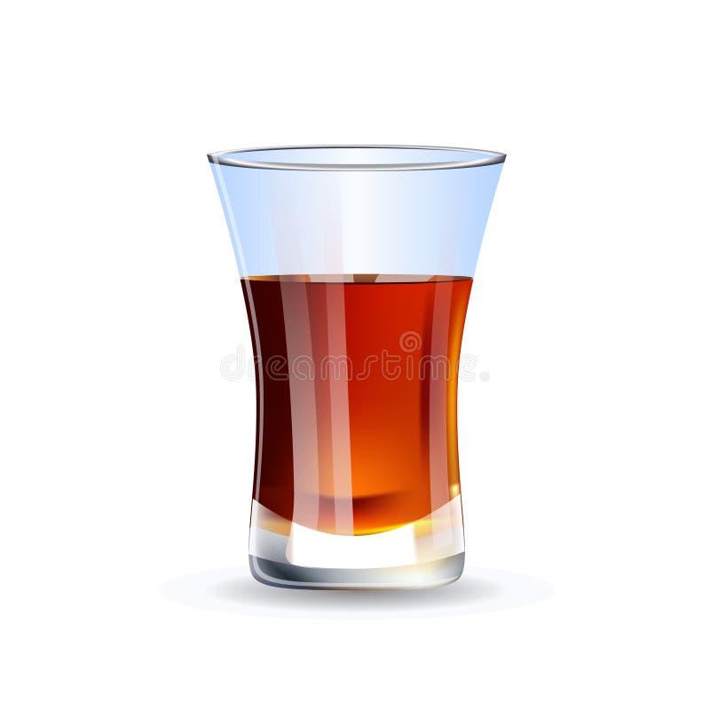 Strzelający whisky odizolowywający na białym tle ilustracja wektor