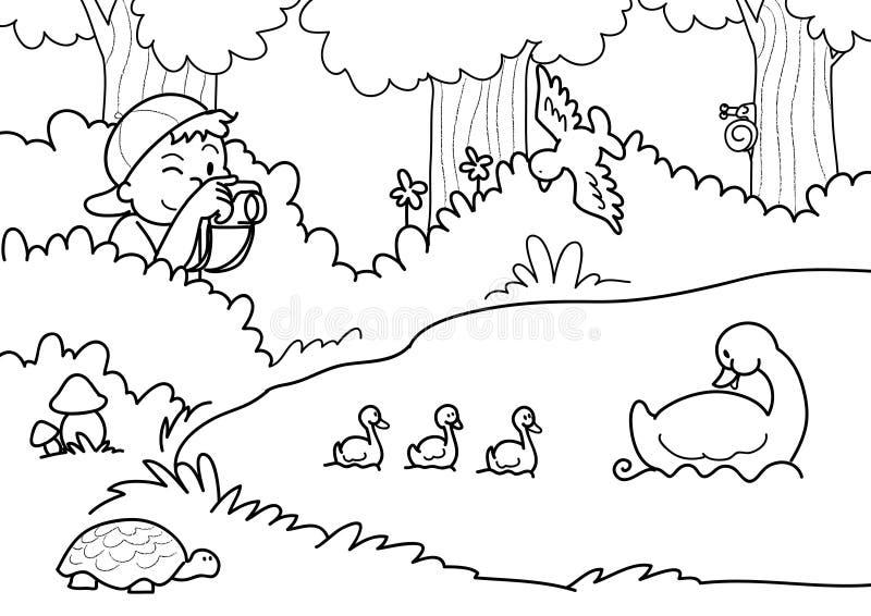 strzelanie do natury wektora ilustracji