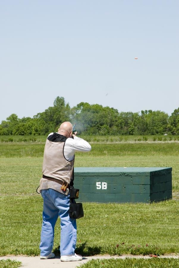 strzelanie do pułapki zdjęcie stock