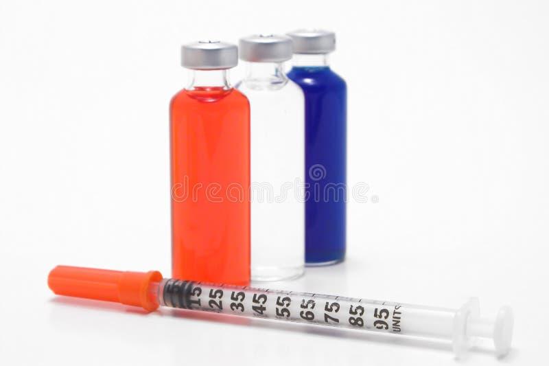 strzykawki fiolki leków obrazy royalty free