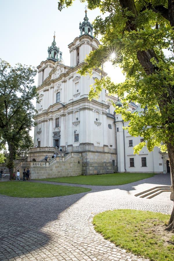 Sts巴洛克式的教会  米开朗基罗和Stanislaus - Skalka 免版税库存图片