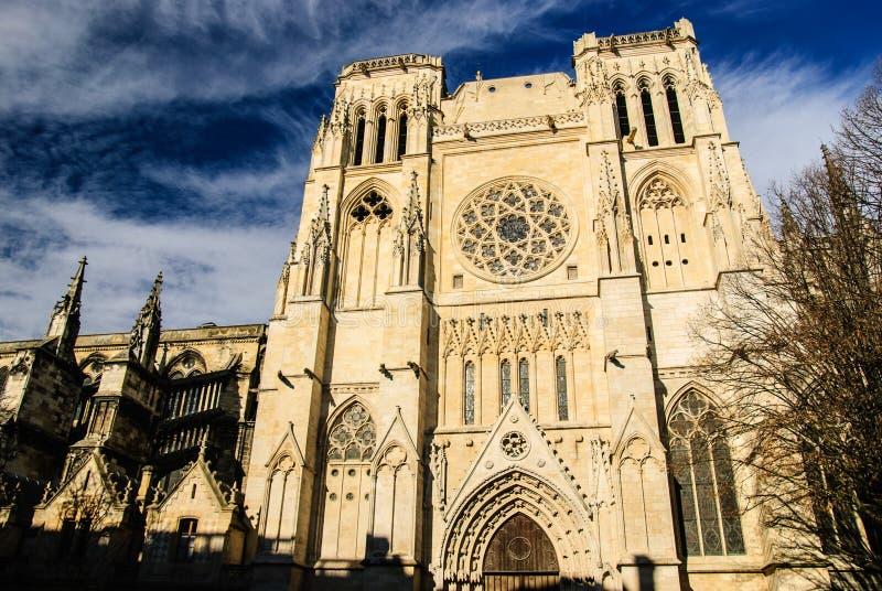 Sts Andrew domkyrka, Bordeaux, Frankrike fotografering för bildbyråer