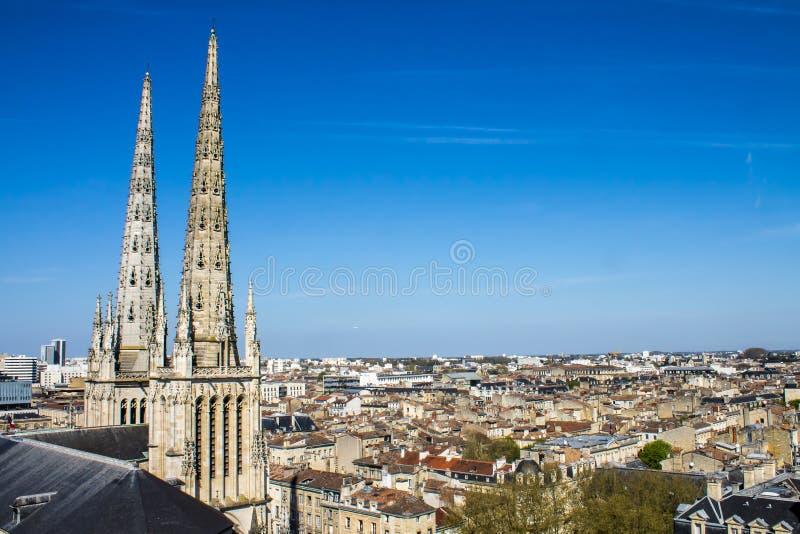 Sts Andrew domkyrka, Bordeaux, Frankrike royaltyfri bild