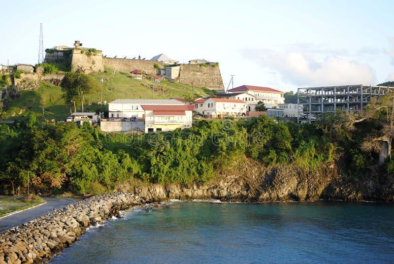 Sts George fort i Grenada royaltyfria foton