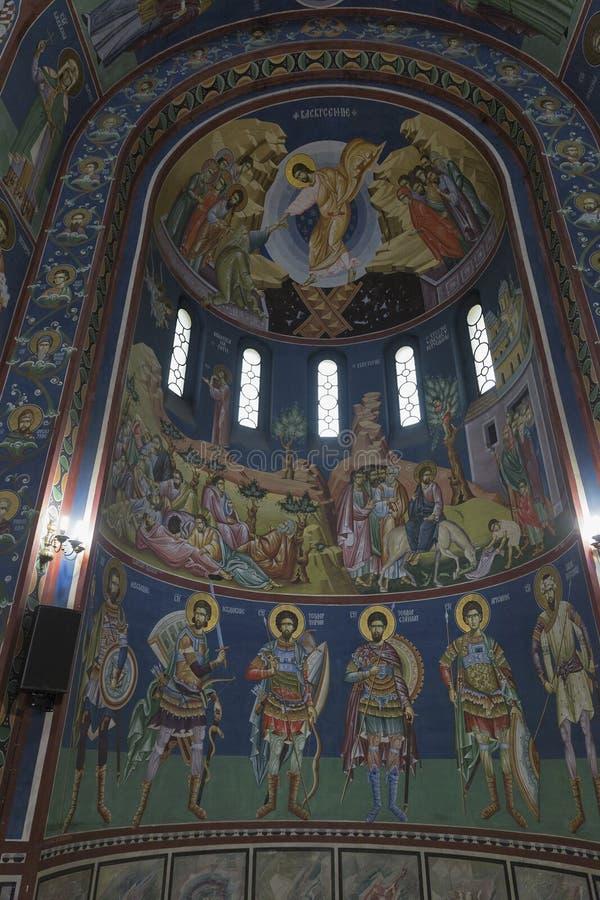 Sts Intérieur d'église de Cyrille et de Methodius à Ljubljana image stock