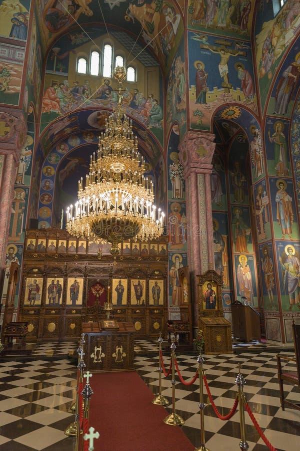 Sts Intérieur d'église de Cyrille et de Methodius à Ljubljana photographie stock