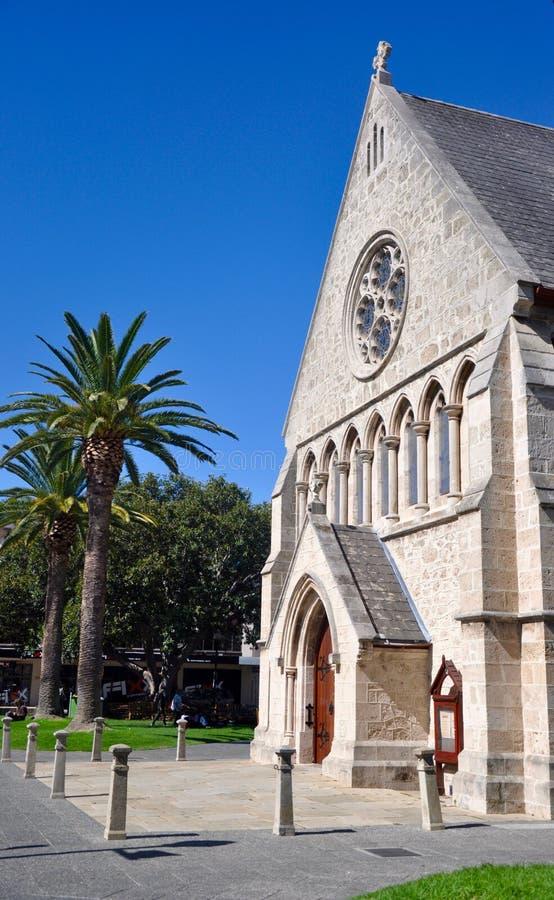 Sts John anglikanska kyrka: Kalkstenarkitektur arkivfoton