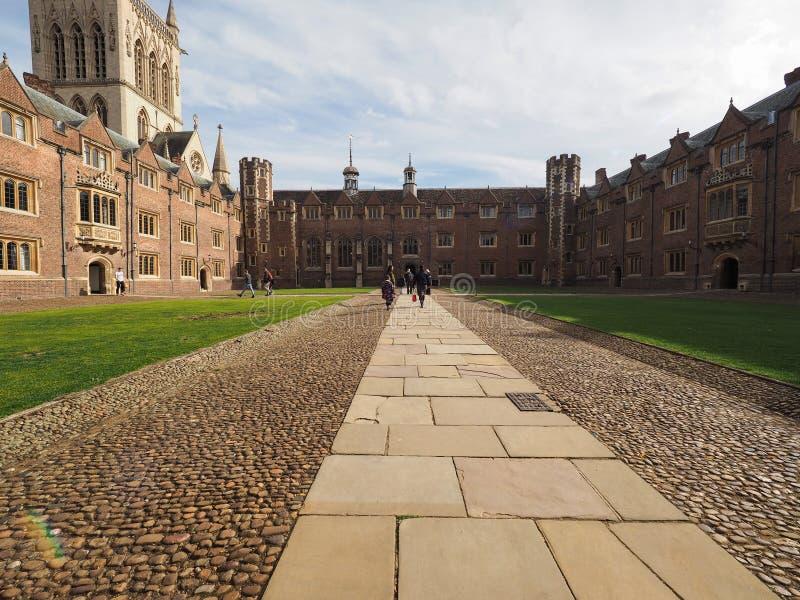 Sts John domstol för högskola andra i Cambridge royaltyfri bild