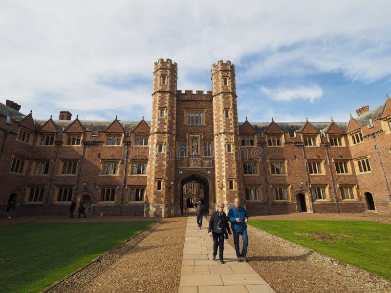 Sts John domstol för högskola andra i Cambridge fotografering för bildbyråer
