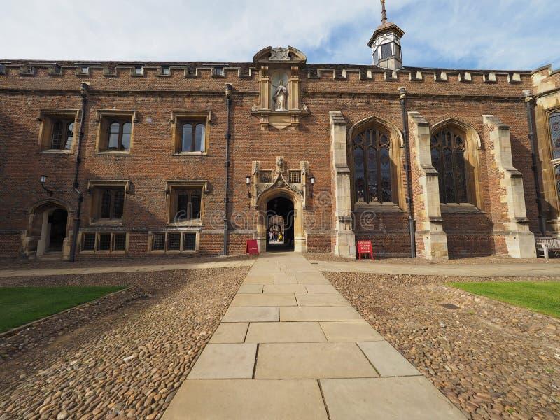 Sts John första domstol för högskola i Cambridge royaltyfri fotografi