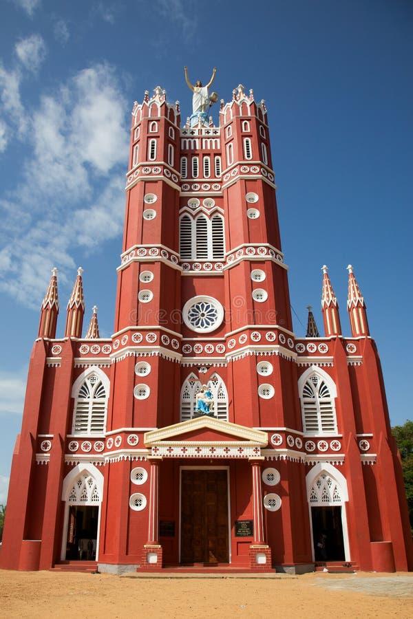 Sts Joseph storstads- domkyrka, Palayam, Trivandrum arkivbild