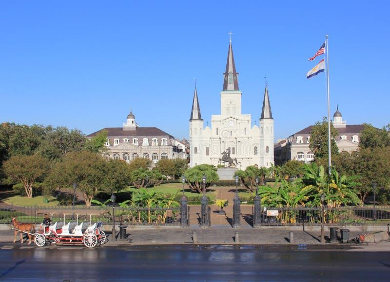Sts Luke domkyrka i New Orleans arkivfoto