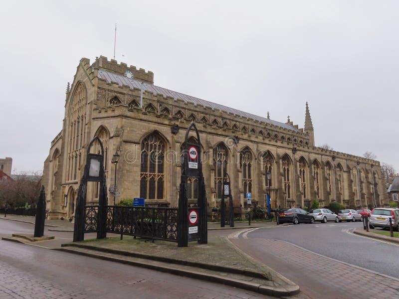 Sts Mary kyrka, begraver St Edmunds arkivfoton