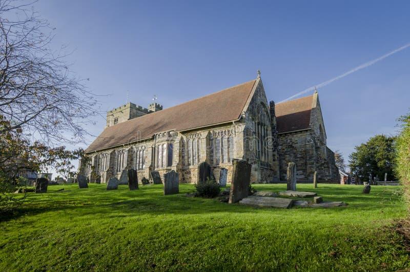 Sts Mary kyrka, Goudhurst, Kent, UK royaltyfria foton