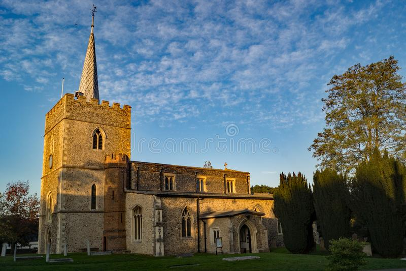 Sts Mary kyrka i Sawbridgeworth, Hertfordshire, England arkivfoton