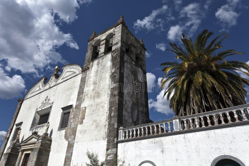 Sts Mary kyrka i Serpa, Portugal arkivfoto