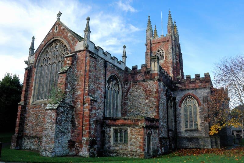 Sts Mary kyrkliga totnes royaltyfri fotografi