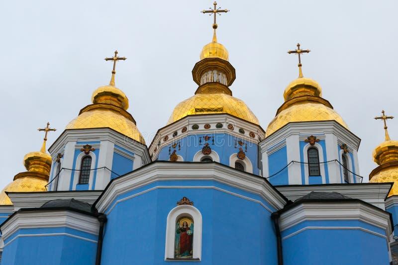 Sts Michael guld- kupolformiga kloster i Kiev royaltyfria bilder