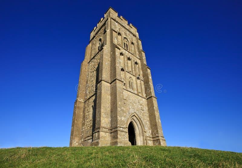 Sts Michael torn på den Glastonbury toren, Somerset, England, Förenade kungariket arkivfoton