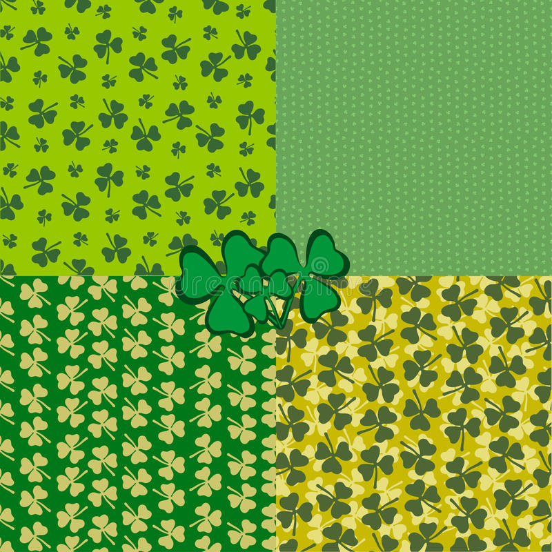 Sts Patrick bakgrund för dagferie royaltyfri illustrationer