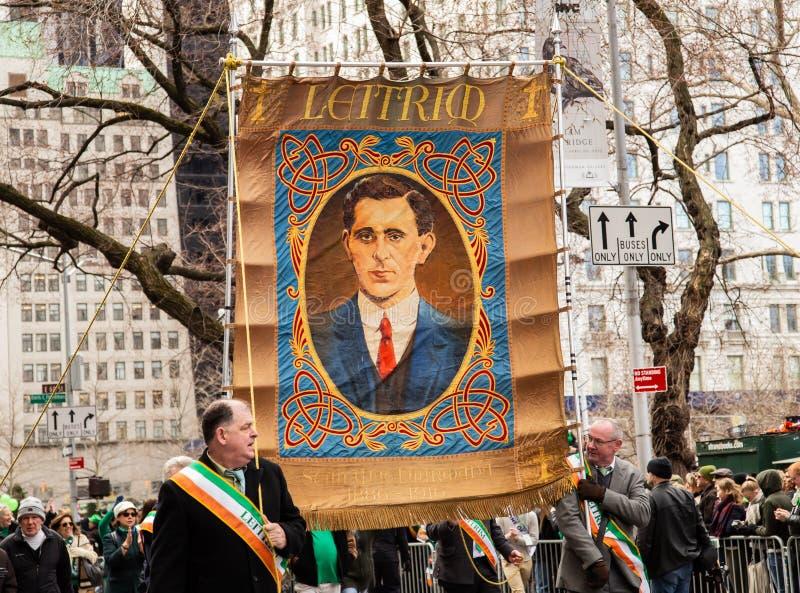 Sts Patrick dag ståtar i New York City mars 16, 2019 royaltyfri foto