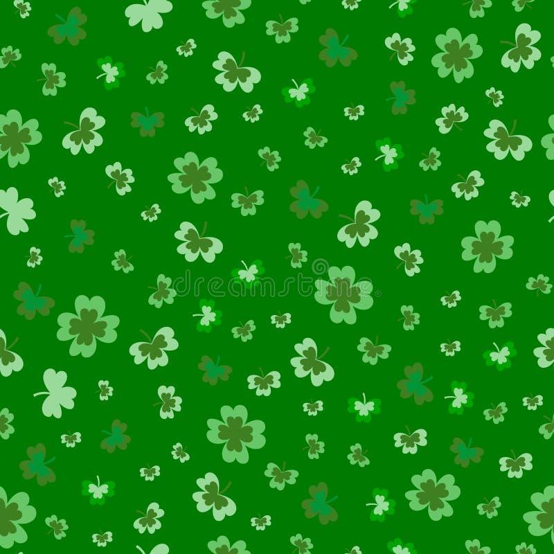 Sts Patrick illustration för design för modell för dagväxt av släktet Trifolium sömlös royaltyfri illustrationer