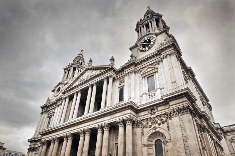Sts Paul domkyrka i London, UK. arkivfoto