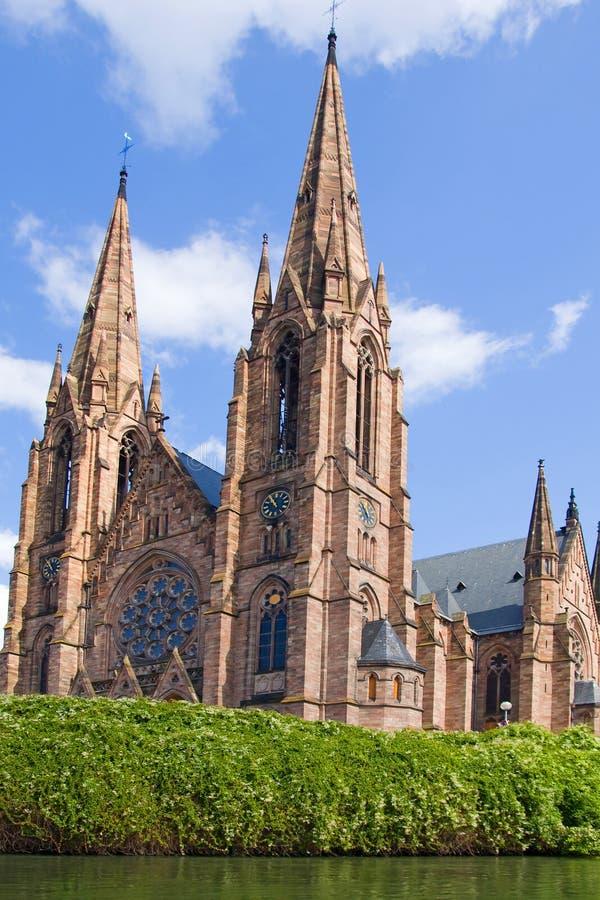Sts Paul kyrka av Strasbourg royaltyfria bilder
