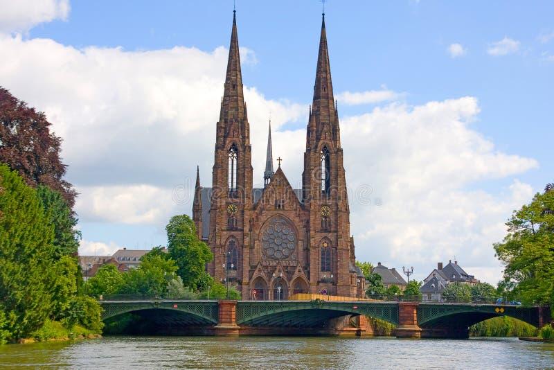 Sts Paul kyrka av Strasbourg arkivbild