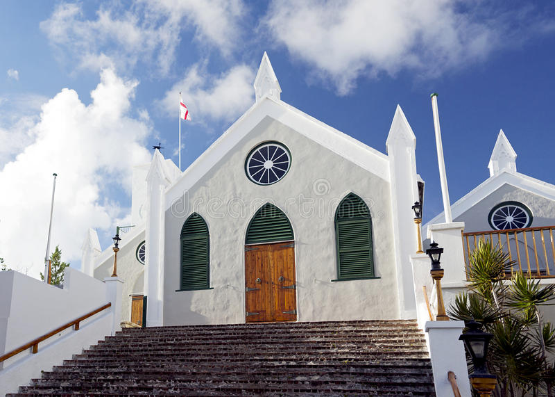Sts Peter anglikanska kyrka, St George, Bermuda royaltyfria bilder