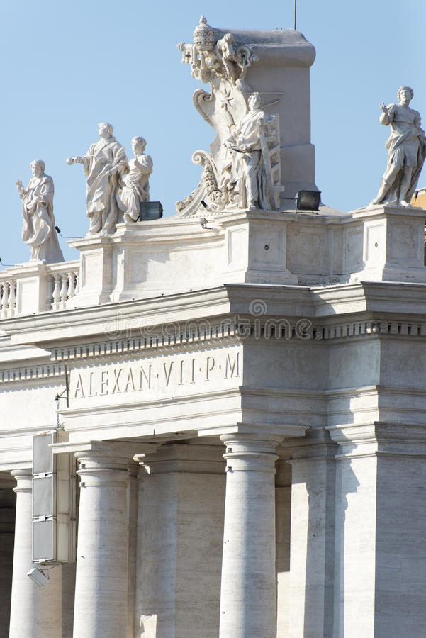 Sts Peter basilika, Vatican City detalj arkivbild