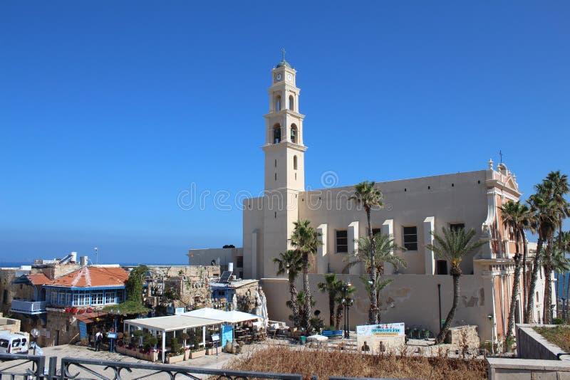 Sts Peter kyrka, en Franciscan kyrka i gamla Jaffa, Tel Aviv, Israel royaltyfria bilder