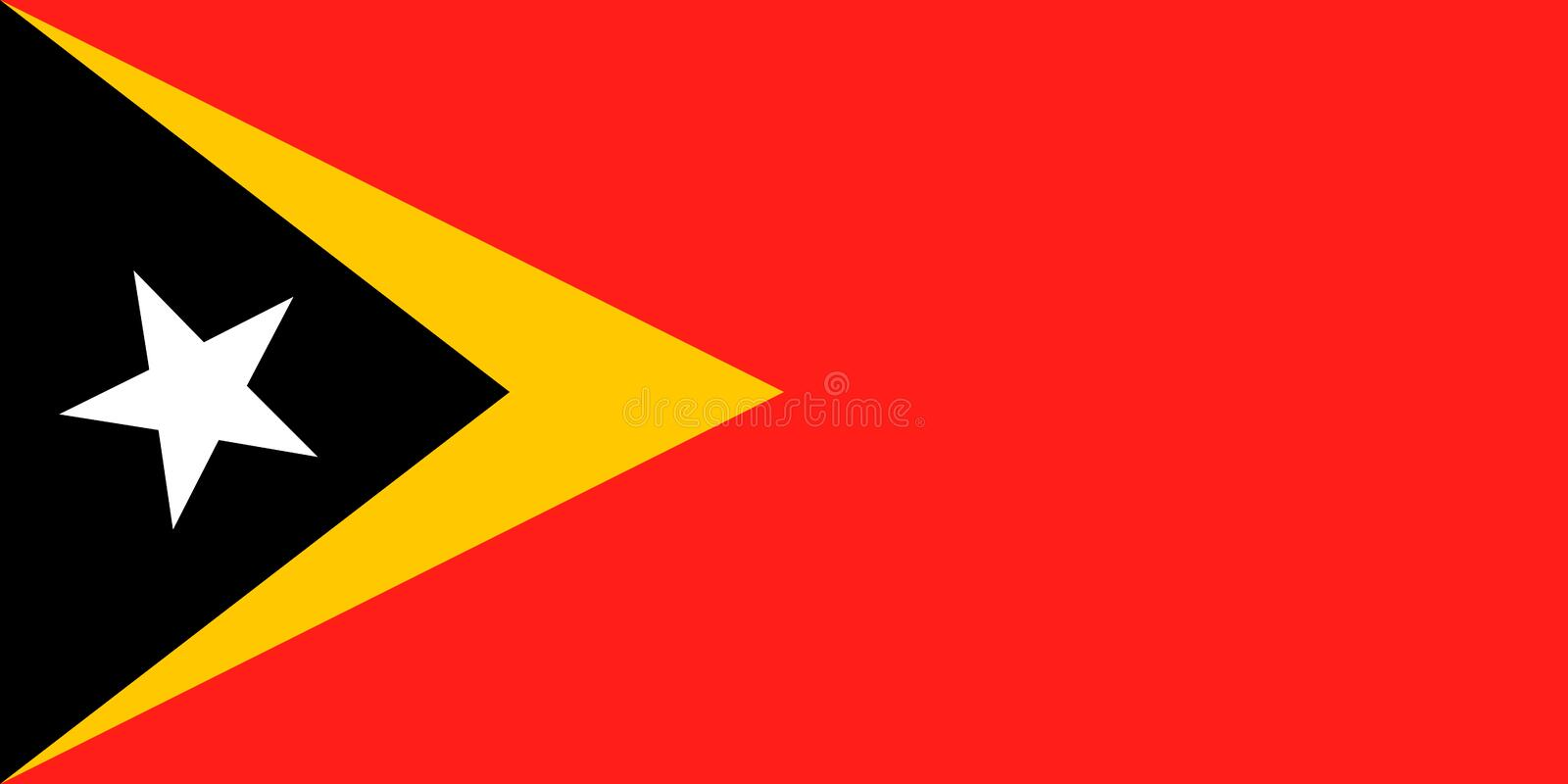 ?sttimor nationsflagga ocks? vektor f?r coreldrawillustration Dili stock illustrationer