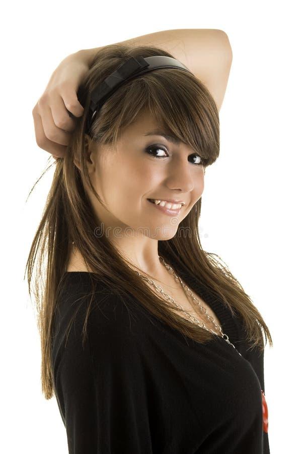 stu красивейших волос девушки счастливое длиннее стоковые изображения rf