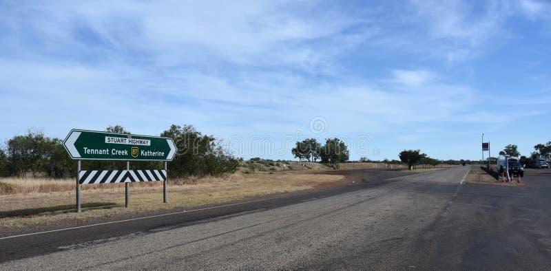 Stuart Highway en Renner Springs fotos de archivo
