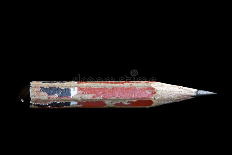 Stub карандаша изолированный на черной предпосылке стоковое фото rf