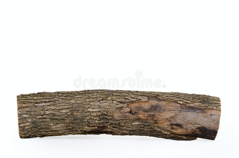 Stub log with wooden texture isolated royalty free stock images
