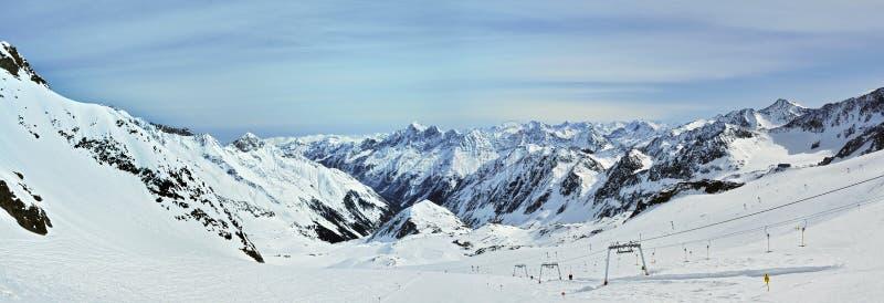 Stubai Ski Resort imágenes de archivo libres de regalías
