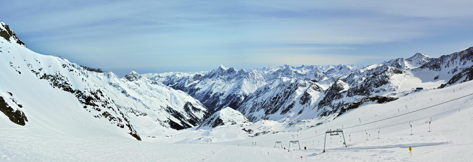 Stubai Ski Resort Royalty Free Stock Images