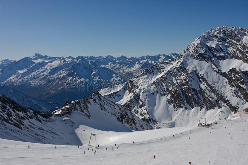 Stubaier Gletscher foto de stock royalty free