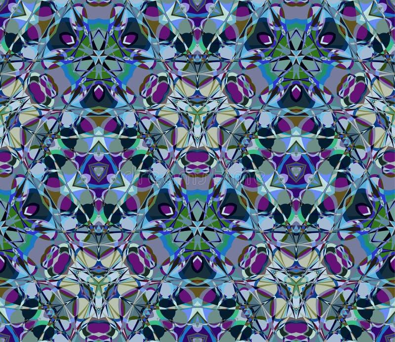 Stubarwnego kalejdoskopu bezszwowy wzór Komponujący kolorów abstrakcjonistyczni kształty royalty ilustracja