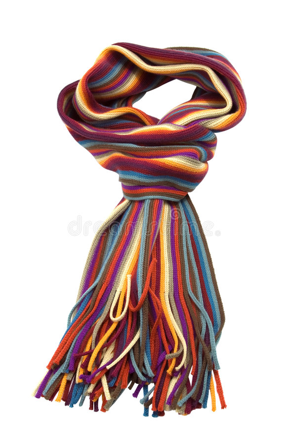 stubarwnego szalika pasiasty woolen zdjęcie royalty free