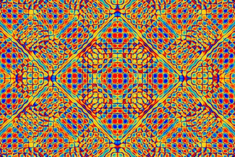 Stubarwnej mozaiki abstrakcjonistyczny tło, bezszwowy wzór ilustracja wektor